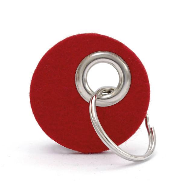 Schlüsselanhänger CANDY rund, Filz rot