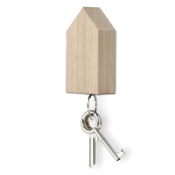 Schlüsselhaus magnetic aus Eichenholz natur von side by side Design.