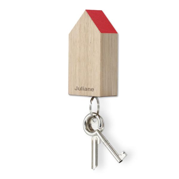 Schlüsselhaus magnetic, Eiche rot, personalisiert