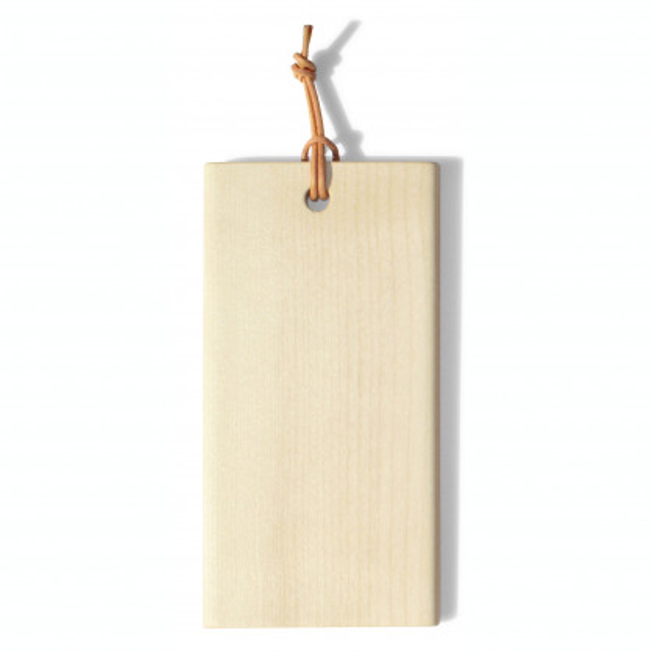 Mini Schneidebrett mit Lederband - Tiny von side by side design - Kleines Holzbrettchen aus Ahornholz.