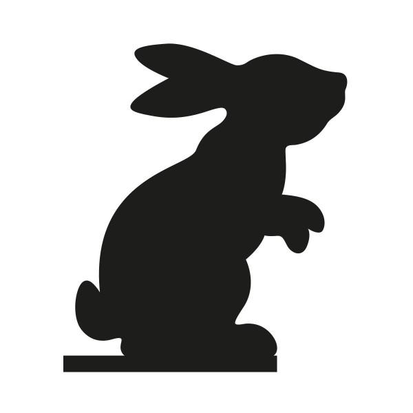 Silhouette Hase von side by side Design - für Kresseschale oder Keksschale