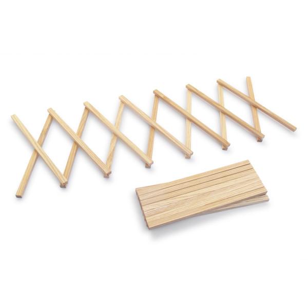 Untersetzer L von side by side Design - Topfuntersetzer aus Eschenholz - ausziebarer Topfuntersetzer bis max 80 cm Länge