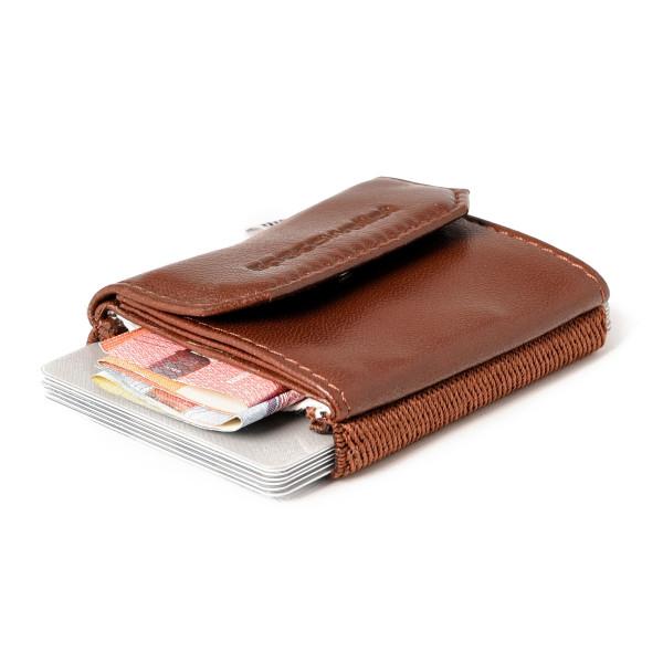 Mini Geldbeutel Space Wallet braun. Kleiner Geldbeutel. Mini Portemonnaie von Spaceproducts.