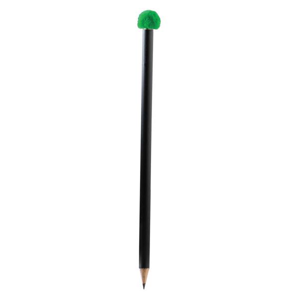 Bleistift mit Pompon-Magnet, grün