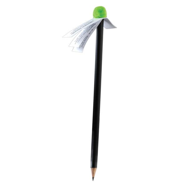 Bleistift mit Pompon-Magnet, hellgrün