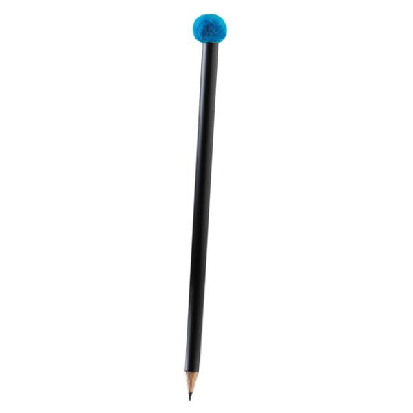 Bleistift mit Pompon-Magnet, türkis