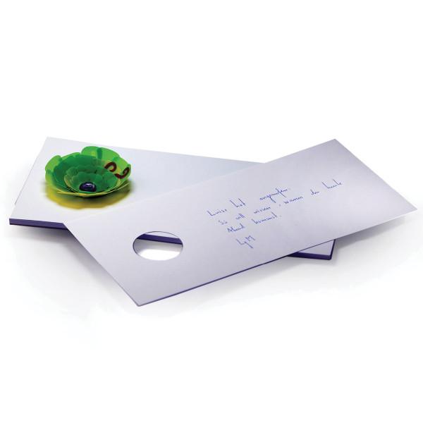 Notizblock zupf, mit Papierblume grün auf Saugnapf