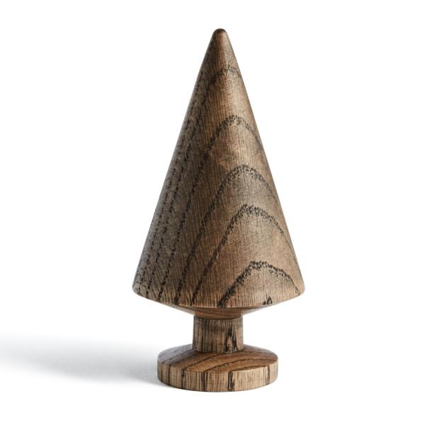 Tannenbaum TREE SOLID 13 cm, Eichenholz dunkel. Skandinavische Design Weihnachtsdekoration von THE OAK MAN aus Dänemark.
