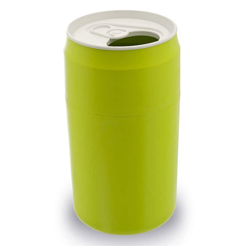 qualy design m lleimer getr nke dose capsule can gr n. Black Bedroom Furniture Sets. Home Design Ideas