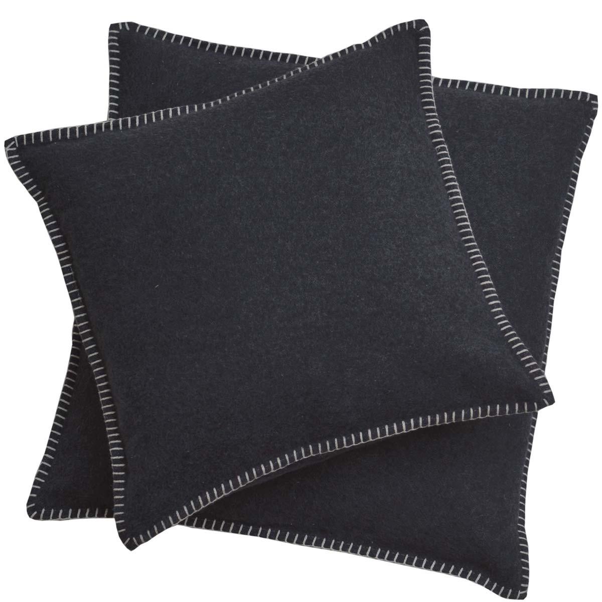david fussenegger kissenbezug sylt uni 40x40 anthrazit. Black Bedroom Furniture Sets. Home Design Ideas