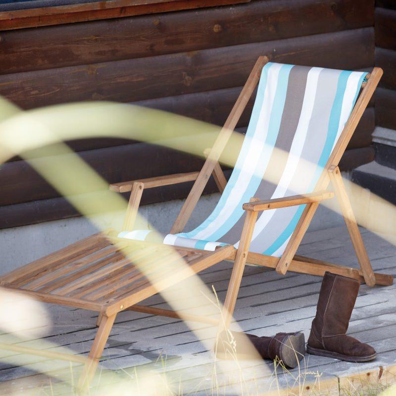 Jan Kurtz Liegestuhl Deckchair mit Fußteil Tarifa