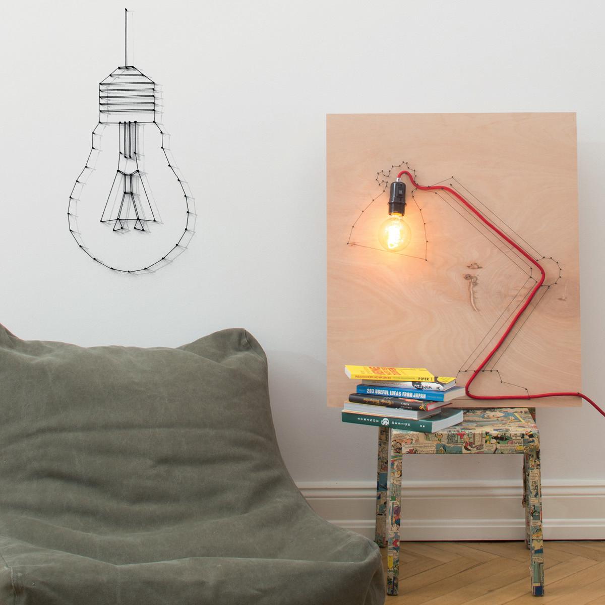 Do it yourself: Aus einem Frühstücksbrettchen eine Lampe