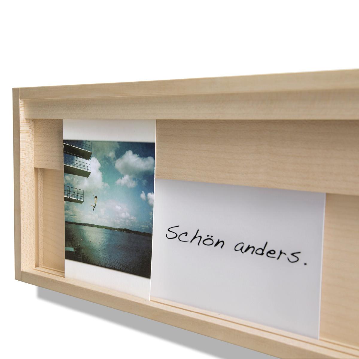 side by side Karten- und Bilderrahmen Halter