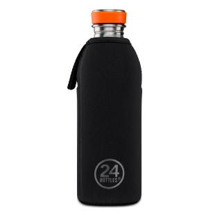 Schwarzes Thermal Cover für Trinkflasche URBAN 0,5 Liter von 24bottles.