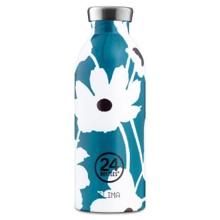 24Bottles Edelstahl Thermosflasche Velvet Magnolia. Doppelwandige Trinkflasche 0,5 l Magnolien Blumen Print.