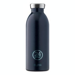 24Bottles Thermosflasche CLIMA dunkelblau. Doppelwandige Trinkflasche 0,5 L deep blue aus Edelstahl, dunkelblau.