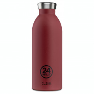 Thermosflasche / Isolierflasche CLIMA von 24Bottles - rot - Edelstahl