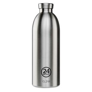 24Bottles Thermosflasche / Isolierflasche 0,5 L CLIMA aus Edelstahl, doppelwandige Trinkflasche, Bild - Modell steel stehend