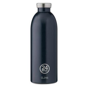 24 Bottles Thermosflasche CLIMA Edelstahl 850 ml, dunkelblau - Doppelwandige Trinkflasche deep blue - Design Isolierflasche 24Bottles.