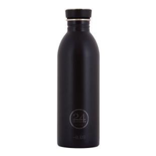 Trinkflasche 0,5 Liter schwarz aus Edelstahl von 24Bottles.