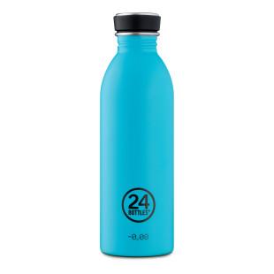 24Bottles Trinkflasche 0,5L URBAN aus Edelstahl lagunen blau. Design Edelstahlflasche hellblau.