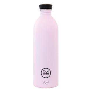 Trinkflasche 1 Liter aus Edelstahl in zart rosa (candy pink) von 24bottles.