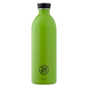 Große Trinkflasche aus Edelstahl. URBAN Edelstahltrinkflasche von 24Bottles in limegrün. Auslaufsichere Trinkflasche.