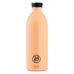 24Bottles URBAN Trinkflasche 1,0 l peach orange. BPA-freie Trinkflasche aus Edelstahl mit auslaufsicheren Schraubdeckel.