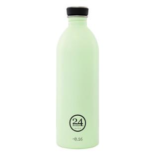 Trinkflasche 1 Liter URBAN aus Edelstahl, pistazien hellgrün - 24Bottles