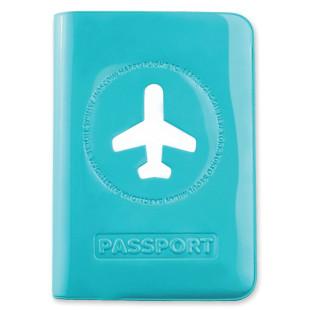Passhülle Happy Flight hellblau
