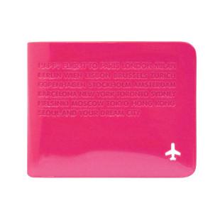Portemonnaie Skinny Wallet für Scheine und Kreditkarten, pink