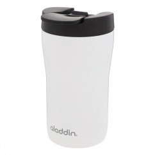Thermobecher / Isolierbecher -  Latte Leak Lock 0,25 L weiß, aladdin Design, auslaufsicher, doppelwandig, Edelstahl, ...