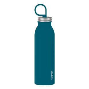 Thermosflasche petrolblau CHILLED 0,55 l von aladdin design. Wasserfalsche / Trinkflasche Edelstahl. Isolierflasche blau mit Tragering.