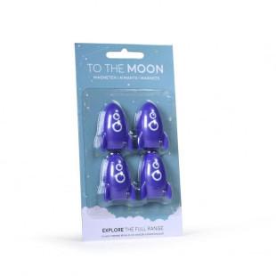 Raketen Magnete in blau - to the Moon - aus dem Atelier Pierre halten Notizen, Bilder ... - Magnete Set Raketen