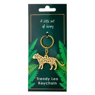 Schlüsselanhänger Leopard gold. Schlüsselhalter von Black Jaguar.