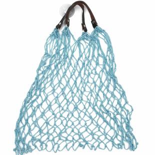 Einkaufsnetz Kulturbeutel hellblau