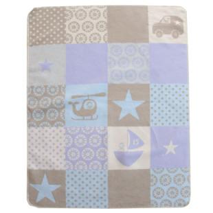 Babydecke Juwel Patch Boy hellblau 70x90 cm