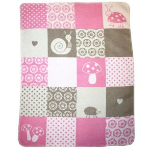 Babydecke Juwel Patch Girl rosa 70x90 cm