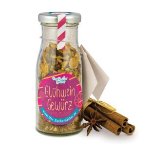 Glühweingewürz im Glasfläschchen zum selber machen DIY - Der Zuckerbäcker.