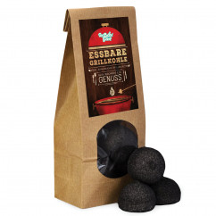 Essbare Grillkohle - schwarze Marshmallowbriketts