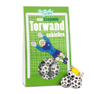 Torwandschießen - Mini Fußball Kaugummi - Der Zuckerbäcker - Fußballgeschenk