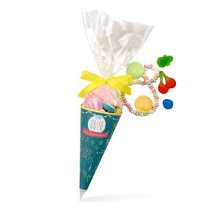 Zuckertüte 1. Schultag - Naschbeutel Schultüte - Alles Gute zur Einschulung - Der Zuckerbäcker - Geschenk zum Schulanfang.