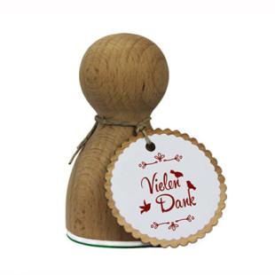 Verziert deine Briefe, Geschenk und vieles mehr! Der große XL Holzstempel VIELEN DANK. Modell Stempelino Maxistempel XL.