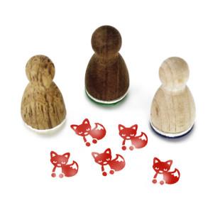 Mini Holzstempel Freddy Fuchs - Motivstempel Fox - Tierstempel Designmanufaktur Berlin - Motivstempel aus Holz