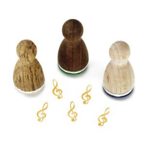 Mini Holzstempel Notenschlüssels - Motivstempel Musik - Designmanufaktur Berlin - Motivstempel aus Holz