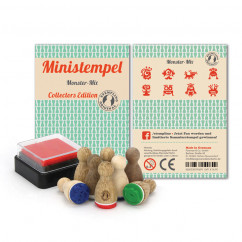 Monster Stempel Set - 8 Ministempel mit Monstern und Mini Stempelkissen - Monstermix Set aus der Designmanufaktur Berlin.