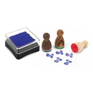 Mini Stempelkissen blau aus der Designmanufaktur Berlin. Stempel-Serie Stempelino.