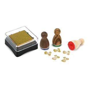 Stempelkissen gold für Mini Motivstempel. Kleines, goldenes Stempelkissen aus der Designmanufaktur Berlin.