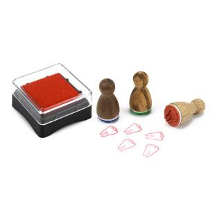 Mini Stempelkissen rot aus der Designmanufaktur Berlin. Stempel-Serie Stempelino.