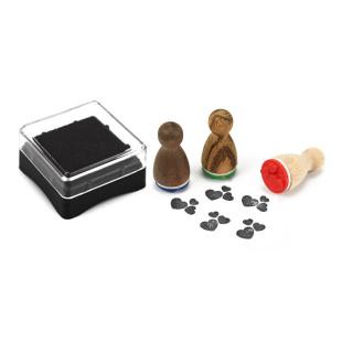 Mini Stempelkissen schwarz aus der Designmanufaktur Berlin. Stempel-Serie Stempelino.